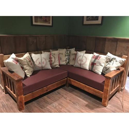 Cozy Creations Collection - Barnwood Sectional