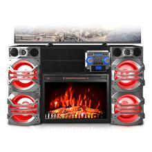 View Product - XFire Professional TV Stand Entertainment Center with Color Changing Fireplace & Integrated Space Heater