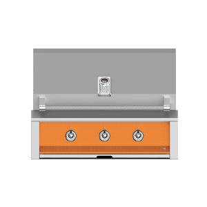 "Aspire By Hestan 36"" Built-In U-Burner Grill LP Citra Orange"
