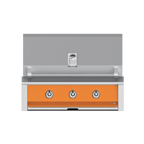 "Hestan - Aspire By Hestan 36"" Built-In U-Burner Grill LP Citra Orange"
