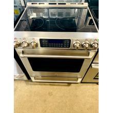 "Product Image - USED-  GE Cafe™ 30"" Free Standing Radiant Range with Baking Drawer EGLSLIDESS-U SERIAL #3"
