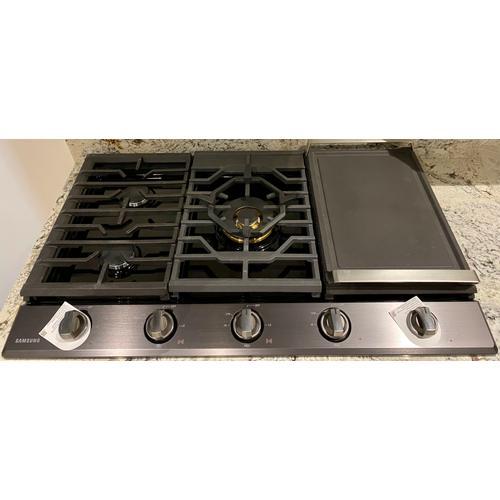 "Samsung  NA36N7755TG   36"" Smart Gas Cooktop with 22K BTU Dual Power Burner"