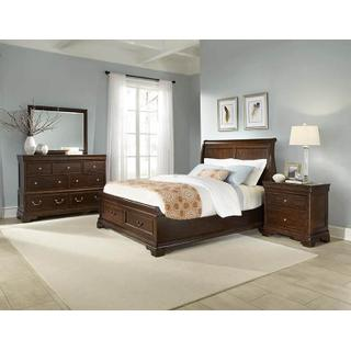 Queen Sleigh, Dresser, Mirror, Chest & 1 Nightstand