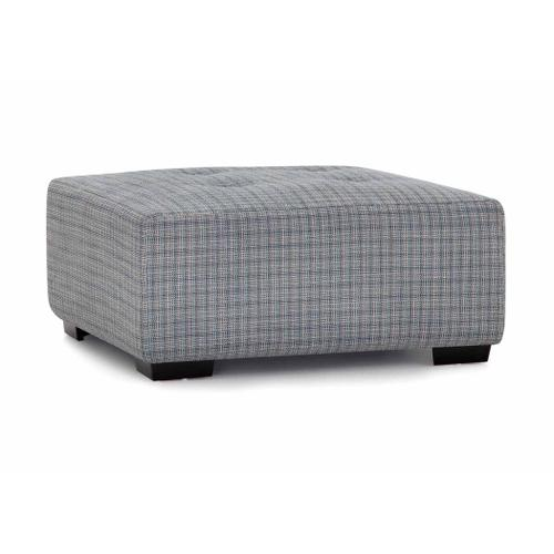 Product Image - Oscar Square Ottoman with Button Tufts in Avianna Mystic Fabric