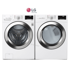 LG Front load laundry pair with steam