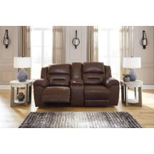 View Product - Stoneland DBL Rec Loveseat w/Console Chocolate
