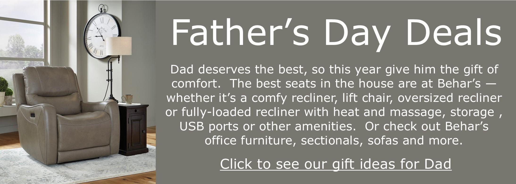 BEHAR'S GIFT IDEAS FOR DAD