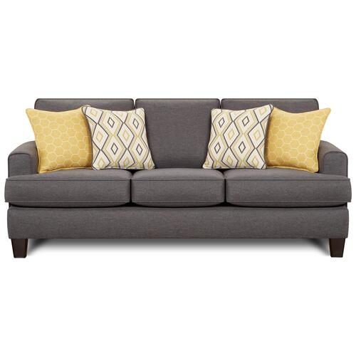Fusion Furniture - Stationary Sofa in Maxwell Gray Fabric