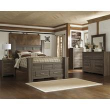 See Details - B251 Bedroom Set - Queen bed, Nightstand, Dresser & Mirror, Chest of Drawers