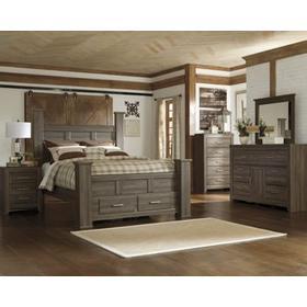 B251 Bedroom Set - Queen bed, Nightstand, Dresser & Mirror, Chest of Drawers