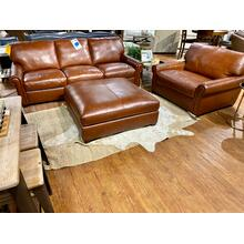 Stallion Chestnut Leather Sofa, Chair & Ottoman