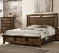 Crown Mark - Curtis 5pc Panel Bedroom Group in a Rustic Finish       (B4800-*)