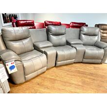 Cobblestone Full Power Leather Reclining Theatre Seating