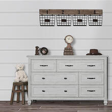 Evolur Madison Double Dresser- Antique Mist