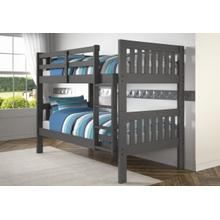 View Product - Twin/Twin Mission Bunkbed - Dark Gray