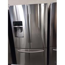 Stainless Steel Samsung French Door Refrigerator (This may be a Stock Photo, actual unit (s) appearance may contain cosmetic blemishes. Please call store if you would like additional pictures). This unit carries our 6 Month warranty, MANUFACTURER WARRANTY and REBATE NOT VALID with this item. ISI  40385 W