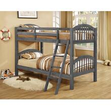 TWIN / TWIN CHARCOAL BUNK BED