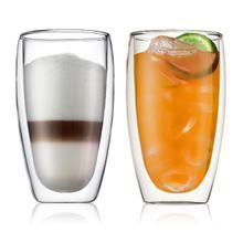 See Details - Bodum Pavina Double Wall Glass Large Set of 2, 15 Ounces