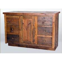 Stony Brooke 6 Drawer 1 Door Vanity with Wood Top