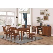 Marbrisa - Burnished Oak 5pc Dining Set