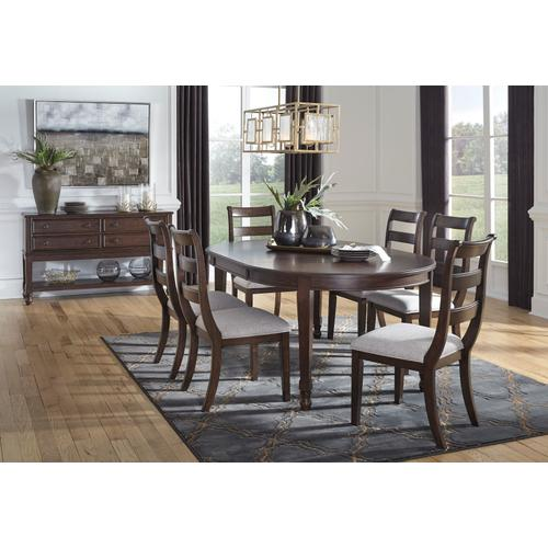 Adinton - Reddish Brown 7 Piece Dining Room Set