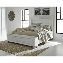 Kanwyn - Whitewash  Queen Panel Bed with Storage