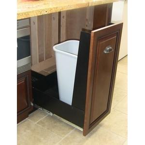"""12"""" Recycling Cabinet Black Front Panel"""