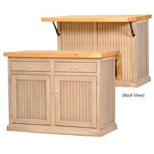 Choice of Flip-Up Butcher Block Top or Flip-Up Pine Top