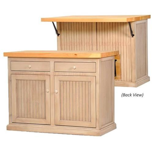 American Heartland Manufacturing - Choice of Flip-Up Butcher Block Top or Flip-Up Pine Top