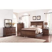 Panel King Bed, Hazelnut