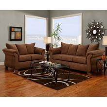 6700 Aruba Chocolate Sofa and Loveseat
