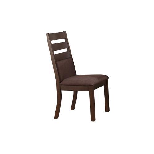 Cushioned Ladder Back Side Chair, Espresso