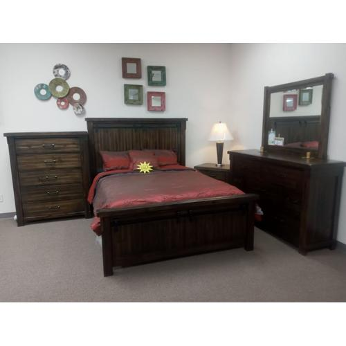 Ashley Furniture - Brand New 6 pc Bedroom set with minor damage.
