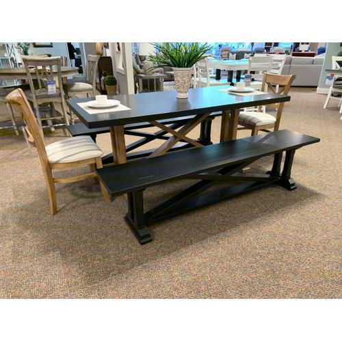 Dining Table with Bench and Two Chairs