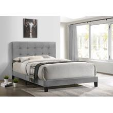 See Details - Platform930 Grey Velvet Full Bed
