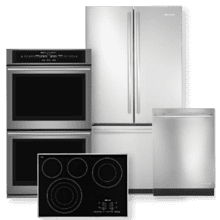 JENNAIR Stainless Steel French Door Refrigerator & Electric Smoothtop Style Cooktop 4 Piece Package- Open Box