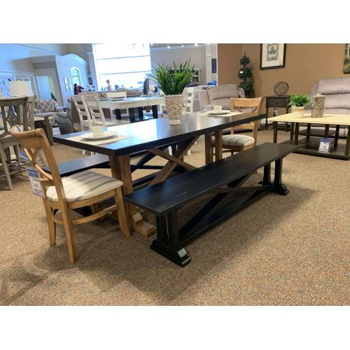 Rectangular Table with 2 Benches & 2 Chairs
