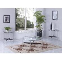 Illusion 3 Piece Occasional Table Set Glass Top