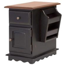 See Details - Chair Side Table w/Mag. Rack