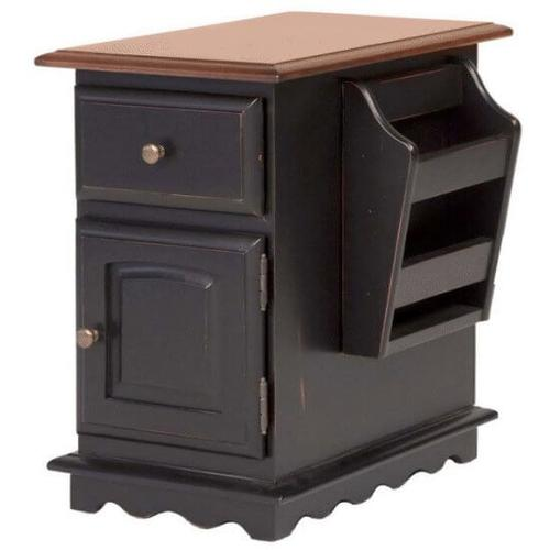 Tennessee Enterprises, Inc. - Chair Side Table w/Mag. Rack