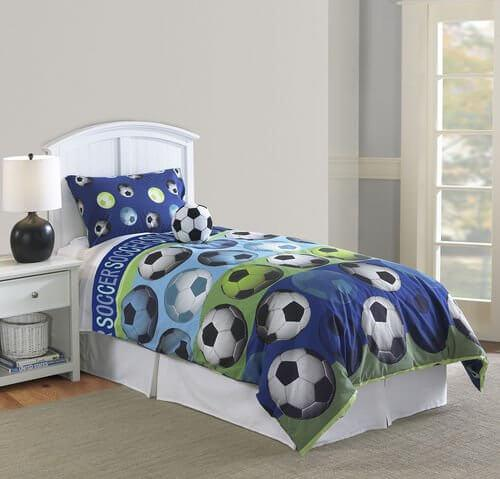 Soccer Blue Comforter Set