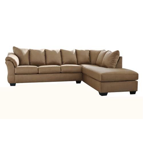 Darcy - Mocha  2-Piece Sectional with Right Facing Chaise