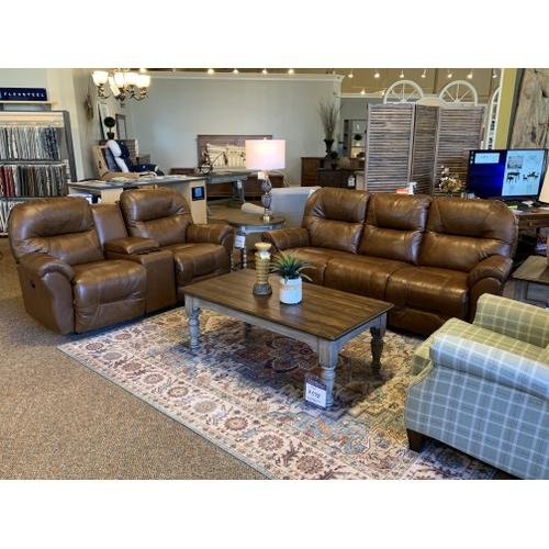 Bodie Leather Power Reclining Sofa and Love Seat with Console