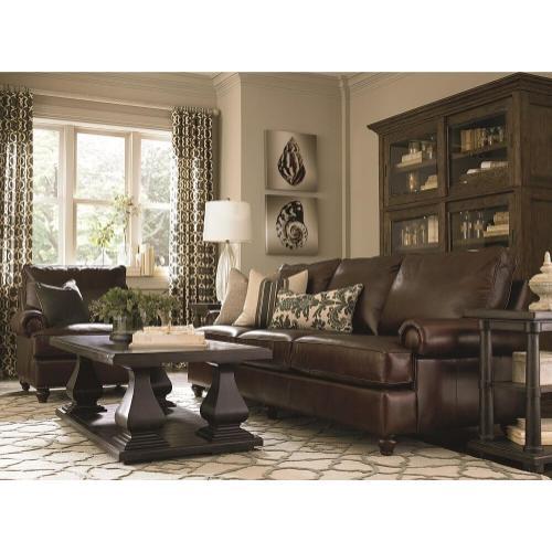 Custom Leather Montague Sofa Grouping