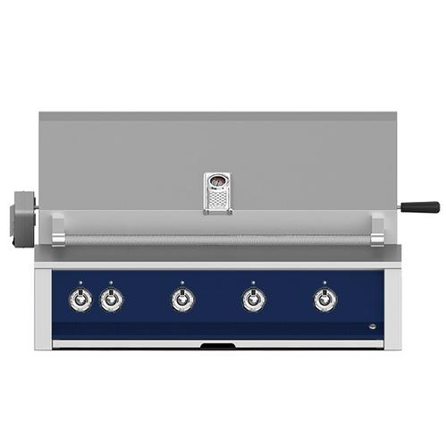 """Aspire By Hestan 42"""" Built-In Grill With U-Burner, And Rotisserie NG Midnight Blue"""
