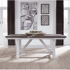 Liberty Furniture Industries - 7 Piece Trestle Table Set  in a Distressed Oak top     (139WH-T4078,75272)