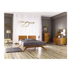 ASTRID BED WITHOUT HEADBOARD PANELS IN CHERRY