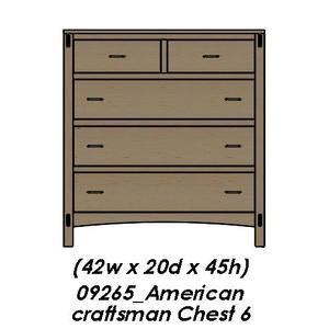 Palettes By Winesburg - American Craftsman Chest