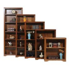 "Oak 84"" Open Bookcase"