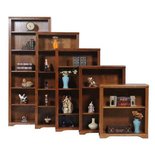 """Oak 84"""" Open Bookcase"""